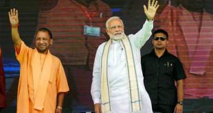 Prime-Minister-Narendra-Modi-and-Uttar-Pradesh-Chief-Minister-Yogi-Adityanath-during-a-public-meeting-in-Varanasi-Uttar-Pradesh-Image-PTI-770x435